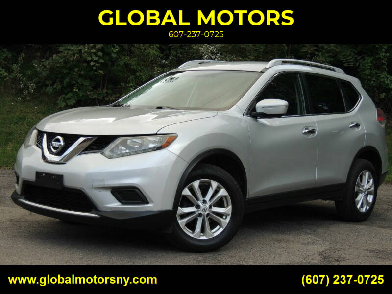 2015 Nissan Rogue for sale at GLOBAL MOTORS in Binghamton NY