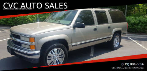 1999 Chevrolet Suburban for sale at CVC AUTO SALES in Durham NC
