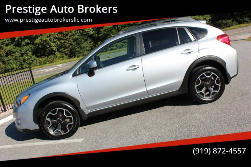 2014 Subaru XV Crosstrek for sale at Prestige Auto Brokers in Raleigh NC