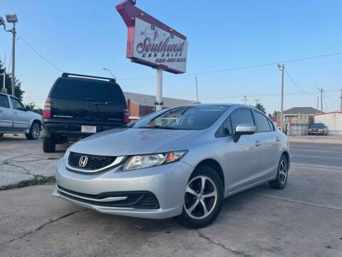 2015 Honda Civic for sale at Southwest Car Sales in Oklahoma City OK
