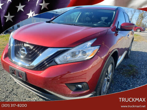 2016 Nissan Murano for sale at TruckMax in N. Laurel MD