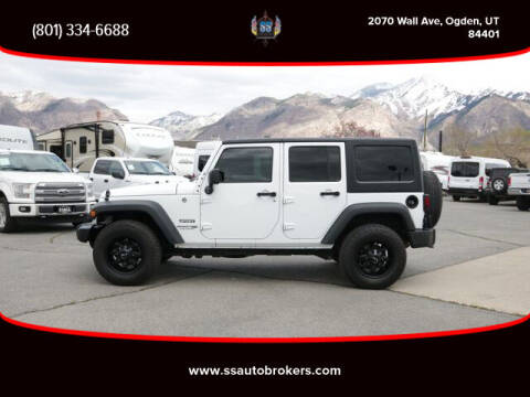 2018 Jeep Wrangler JK Unlimited for sale at S S Auto Brokers in Ogden UT