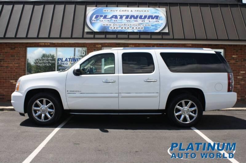 2008 GMC Yukon XL for sale at Platinum Auto World in Fredericksburg VA