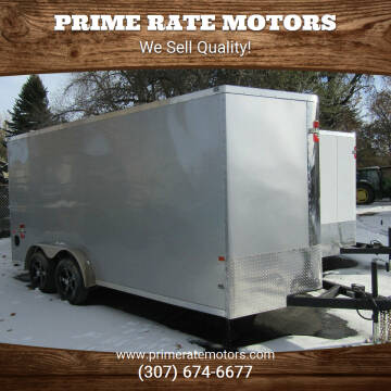 2021 CHARMAC 7 X 16 CARGO TRAILER for sale at PRIME RATE MOTORS in Sheridan WY