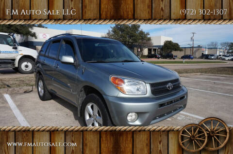 2005 Toyota RAV4 for sale at F.M Auto Sale LLC in Dallas TX