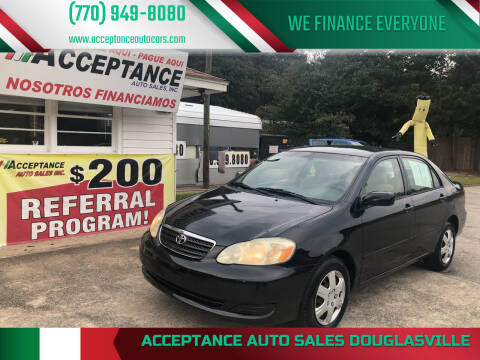 2006 Toyota Corolla for sale at Acceptance Auto Sales Douglasville in Douglasville GA