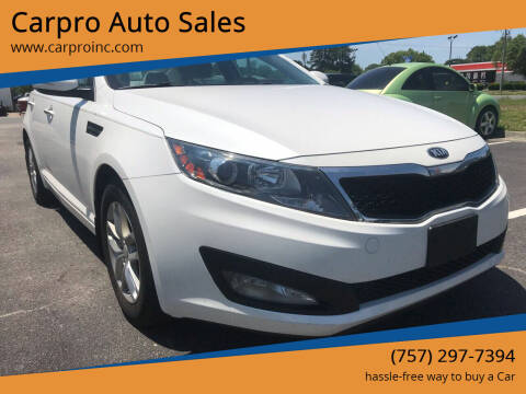 2013 Kia Optima for sale at Carpro Auto Sales in Chesapeake VA