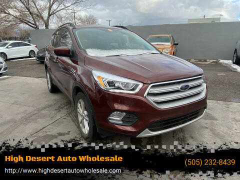 2018 Ford Escape for sale at High Desert Auto Wholesale in Albuquerque NM