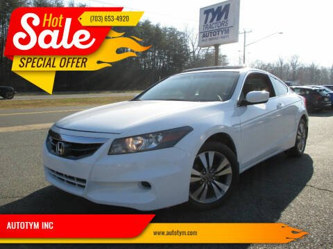 2012 Honda Accord for sale at AUTOTYM INC in Fredericksburg VA