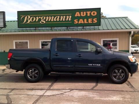 2015 Nissan Titan for sale at Borgmann Auto Sales in Norfolk NE