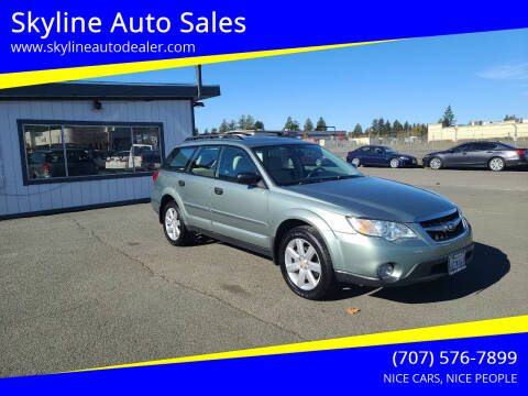 2009 Subaru Outback for sale at Skyline Auto Sales in Santa Rosa CA
