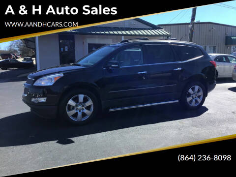 2012 Chevrolet Traverse for sale at A & H Auto Sales in Greenville SC