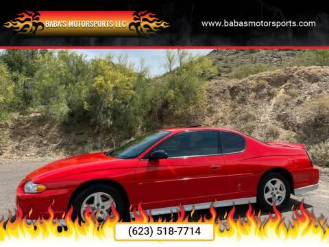 2000 Chevrolet Monte Carlo for sale at Baba's Motorsports, LLC in Phoenix AZ