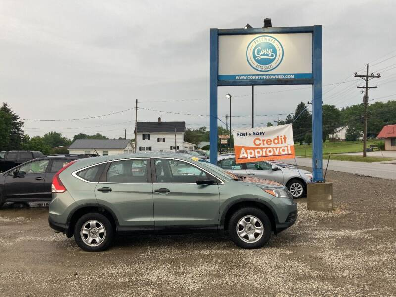2012 Honda CR-V for sale at Corry Pre Owned Auto Sales in Corry PA