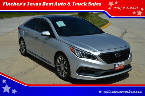 2016 Hyundai Sonata for sale at Fincher's Texas Best Auto & Truck Sales in Tomball TX