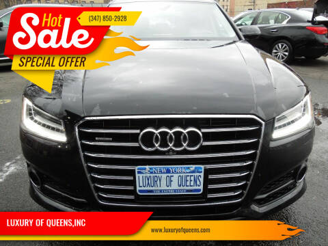 2018 Audi A8 L for sale at LUXURY OF QUEENS,INC in Long Island City NY