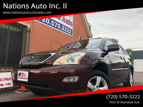 2008 Lexus RX 350 for sale at Nations Auto Inc. II in Denver CO