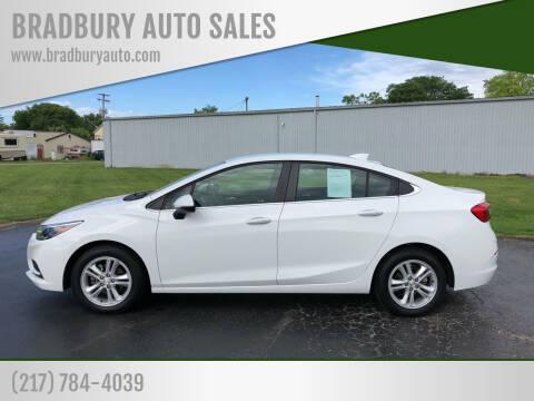 2018 Chevrolet Cruze for sale at BRADBURY AUTO SALES in Gibson City IL