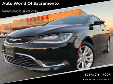 2016 Chrysler 200 for sale at Auto World of Sacramento Stockton Blvd in Sacramento CA