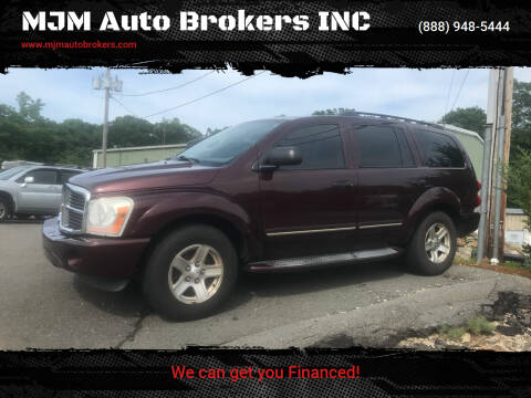 2004 Dodge Durango for sale at MJM Auto Brokers INC in Gloucester MA
