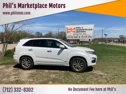 2013 Kia Sorento for sale at Phil's Marketplace Motors in Arnolds Park IA