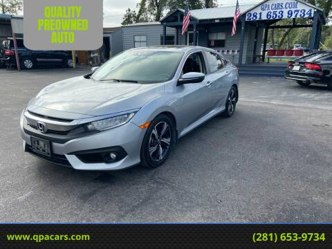 2016 Honda Civic for sale at QUALITY PREOWNED AUTO in Houston TX