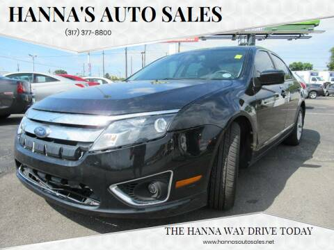 2010 Ford Fusion for sale at Hanna's Auto Sales in Indianapolis IN