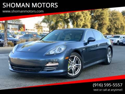 2010 Porsche Panamera for sale at SHOMAN MOTORS in Davis CA