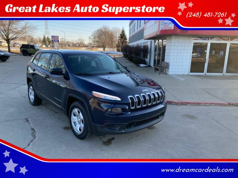 2014 Jeep Cherokee for sale at Great Lakes Auto Superstore in Pontiac MI