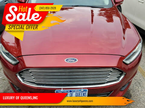 2016 Ford Fusion for sale at LUXURY OF QUEENS,INC in Long Island City NY