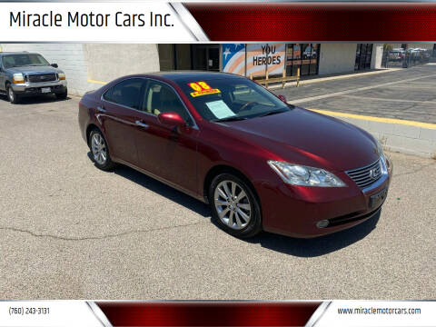 2008 Lexus ES 350 for sale at Miracle Motor Cars Inc. in Victorville CA