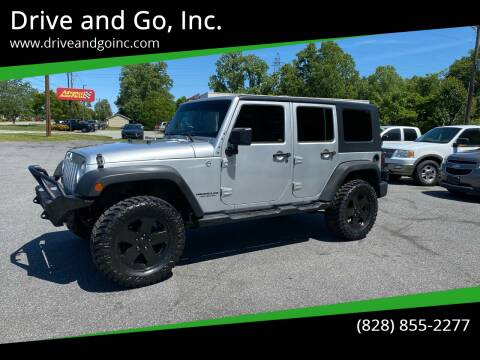 2010 Jeep Wrangler Unlimited for sale at Drive and Go, Inc. in Hickory NC
