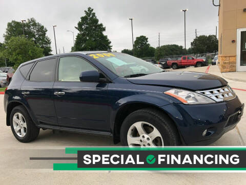 2004 Nissan Murano for sale at HI SOLUTIONS AUTO in Houston TX