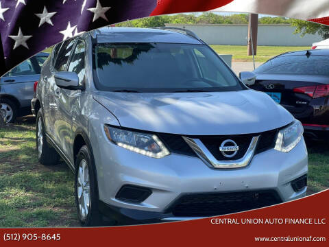 2016 Nissan Rogue for sale at Central Union Auto Finance LLC in Austin TX
