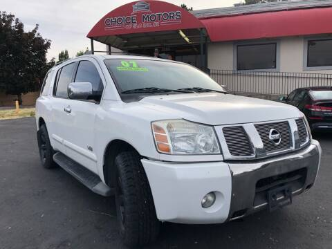 2007 Nissan Armada for sale at Choice Motors of Salt Lake City in West Valley  City UT