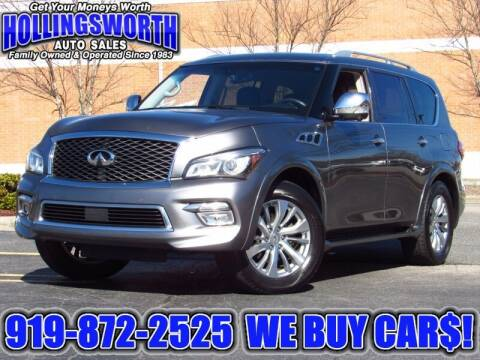 2015 Infiniti QX80 for sale at Hollingsworth Auto Sales in Raleigh NC