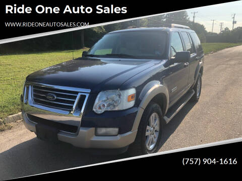 2007 Ford Explorer for sale at Ride One Auto Sales in Norfolk VA