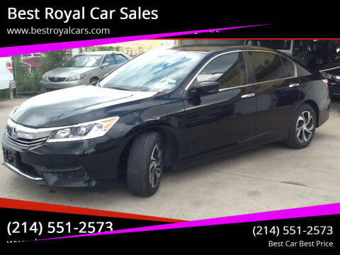 2017 Honda Accord for sale at Best Royal Car Sales in Dallas TX