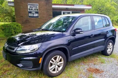 2014 Volkswagen Tiguan for sale at Progress Auto Sales in Durham NC