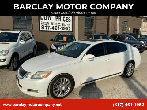 2008 Lexus GS 350 for sale at BARCLAY MOTOR COMPANY in Arlington TX