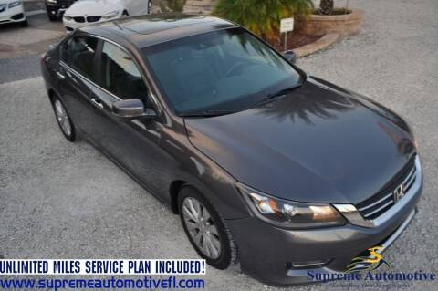 2013 Honda Accord for sale at Supreme Automotive in Land O Lakes FL