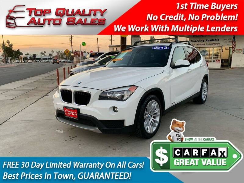 2013 BMW X1 for sale at Top Quality Auto Sales in Redlands CA