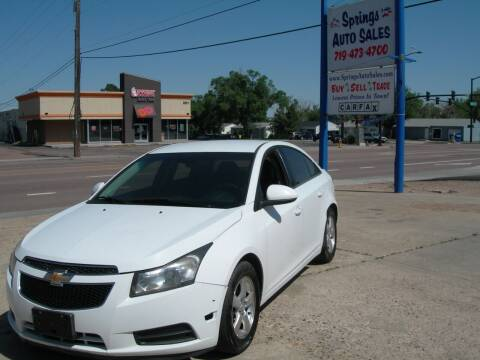 2013 Chevrolet Cruze for sale at Springs Auto Sales in Colorado Springs CO