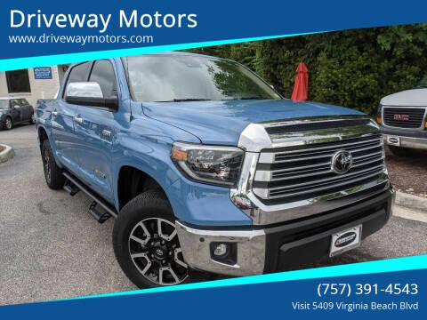 2019 Toyota Tundra for sale at Driveway Motors in Virginia Beach VA