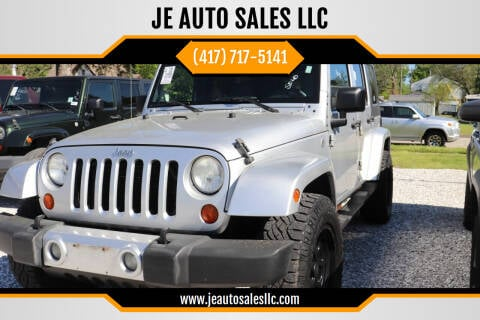 2008 Jeep Wrangler Unlimited for sale at JE AUTO SALES LLC in Webb City MO