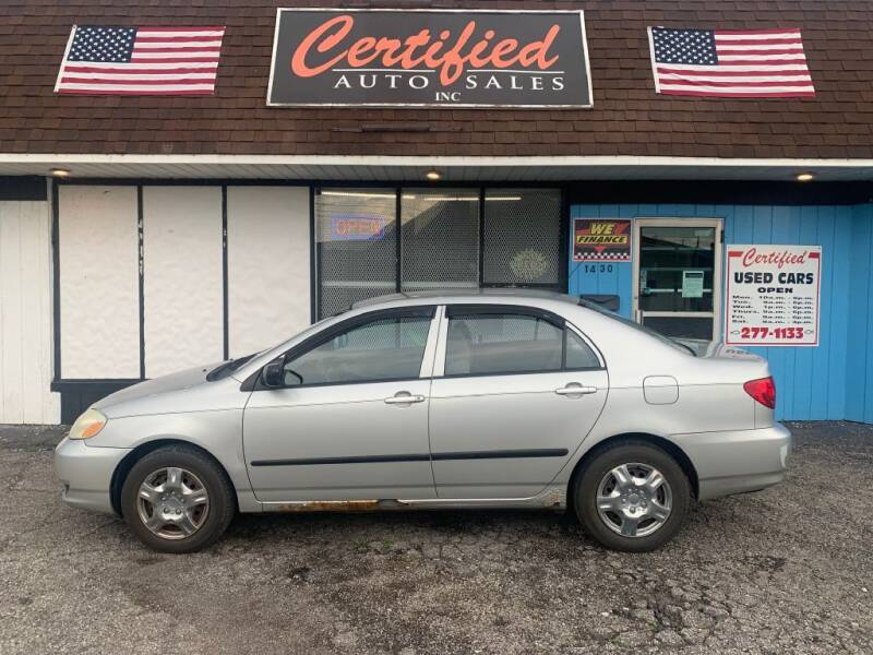 2003 Toyota Corolla for sale at Certified Auto Sales, Inc in Lorain OH