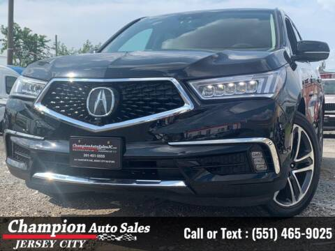 2017 Acura MDX for sale at CHAMPION AUTO SALES OF JERSEY CITY in Jersey City NJ