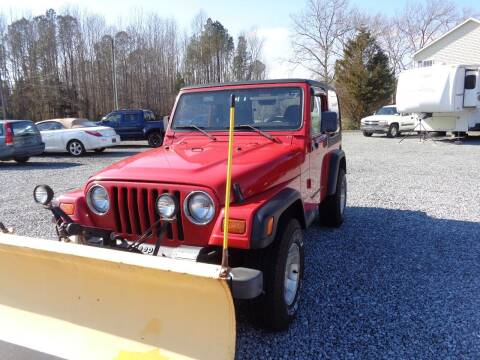 1999 Jeep Wrangler for sale at European Coach Werkes, Inc in Frankford DE