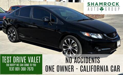 2013 Honda Civic for sale at Shamrock Group LLC #1 in Pleasant Grove UT