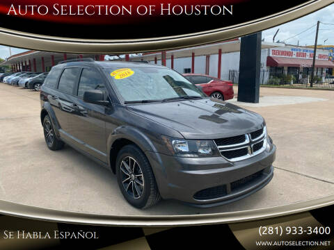 2018 Dodge Journey for sale at Auto Selection of Houston in Houston TX